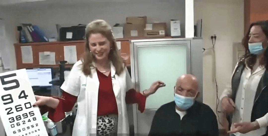 Unprecedented artificial corneal transplant restores sight to elderly man